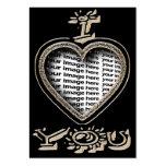 Tarjeta del día de San Valentín del el día de San  Plantilla De Tarjeta Personal