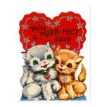 Tarjeta del día de San Valentín del gatito de los  Tarjetas Postales