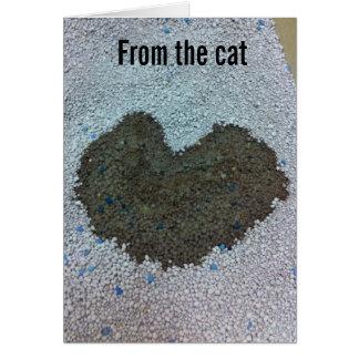 Tarjeta del día de San Valentín del gato