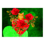 Tarjeta del día de San Valentín del gato del Tarjetas De Visita Grandes