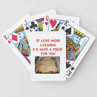 tarjeta del día de San Valentín del lasagna Barajas De Cartas