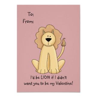 Tarjeta del día de San Valentín del león para los Anuncios