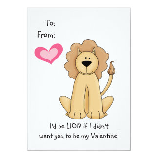 Tarjeta del día de San Valentín del león para los Comunicados