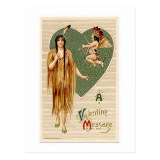 Tarjeta del día de San Valentín del nativo Postal