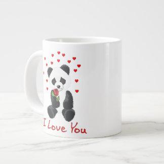 Tarjeta del día de San Valentín del oso de panda Taza De Café Grande