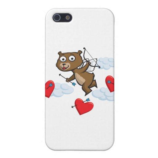 Tarjeta del día de San Valentín del oso de peluche iPhone 5 Carcasa