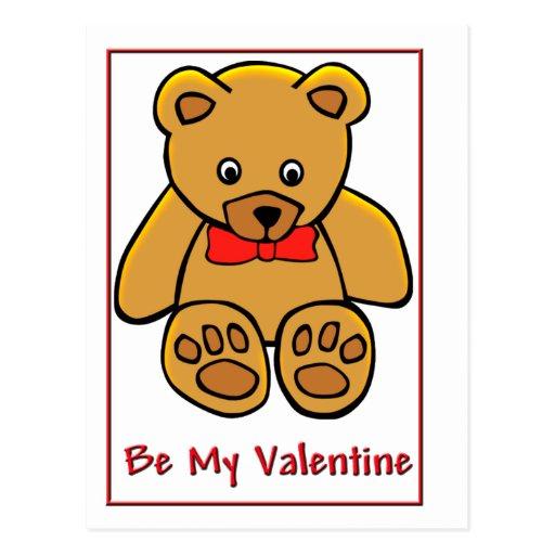 Tarjeta del día de San Valentín del oso de peluche Postal