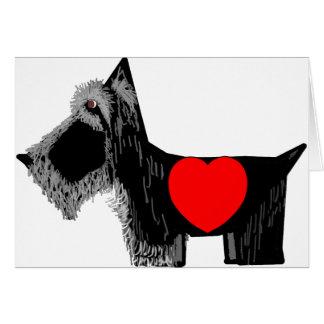 Tarjeta del día de San Valentín del perro del esco