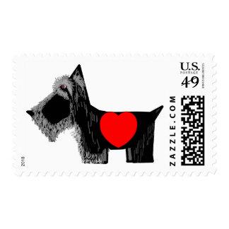 Tarjeta del día de San Valentín del perro del Sellos