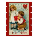Tarjeta del día de San Valentín del Postal-Vintage