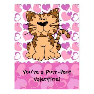 Tarjeta del día de San Valentín del Ronroneo-fect Postales