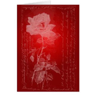 Tarjeta del día de San Valentín del rosa rojo