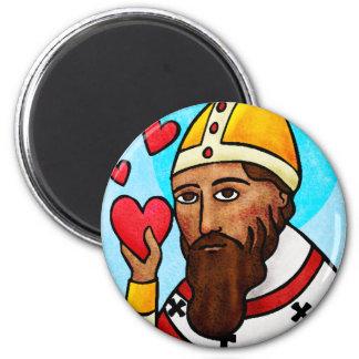 Tarjeta del día de San Valentín del santo Imán De Frigorífico