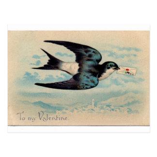 Tarjeta del día de San Valentín del trago Postal