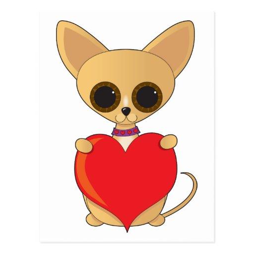 tarjeta del día de San Valentín del valentineChihu Tarjeta Postal
