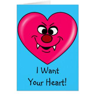 Tarjeta del día de San Valentín del vampiro: Déme