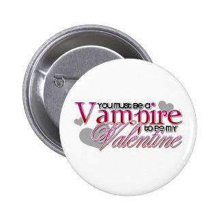 Tarjeta del día de San Valentín del vampiro Pin Redondo De 2 Pulgadas