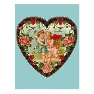 Tarjeta del día de San Valentín del Victorian a mi Tarjeta Postal