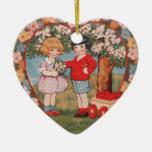 Tarjeta del día de San Valentín del Victorian Ornamento De Reyes Magos