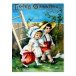 Tarjeta del día de San Valentín del Victorian Postales