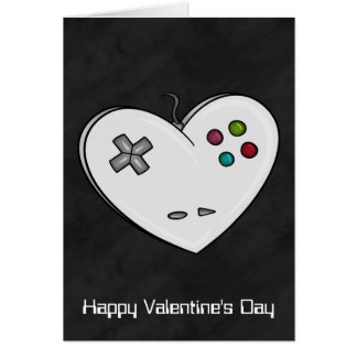 Tarjeta del día de San Valentín del videojugador d