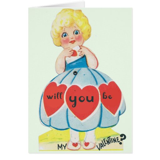 Tarjeta del día de San Valentín del vintage