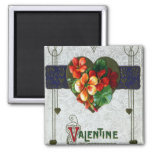 Tarjeta del día de San Valentín del vintage de las Iman Para Frigorífico
