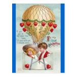 Tarjeta del día de San Valentín del vintage del gl