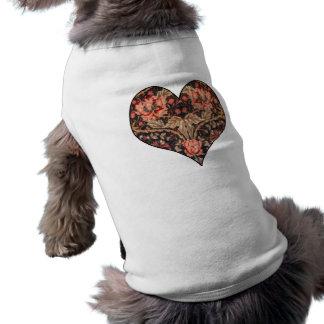 Tarjeta del día de San Valentín del vintage del Playera Sin Mangas Para Perro