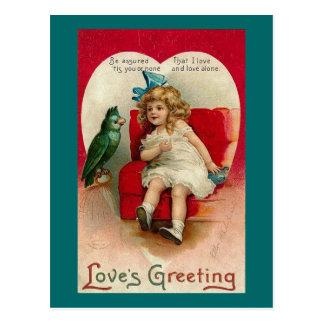 Tarjeta del día de San Valentín del vintage del Tarjetas Postales