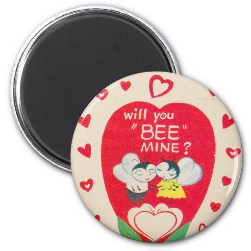Tarjeta del día de San Valentín del vintage Imanes De Nevera