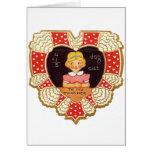 Tarjeta del día de San Valentín del vintage para e