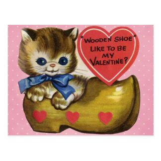 Tarjeta del día de San Valentín del vintage para Postal