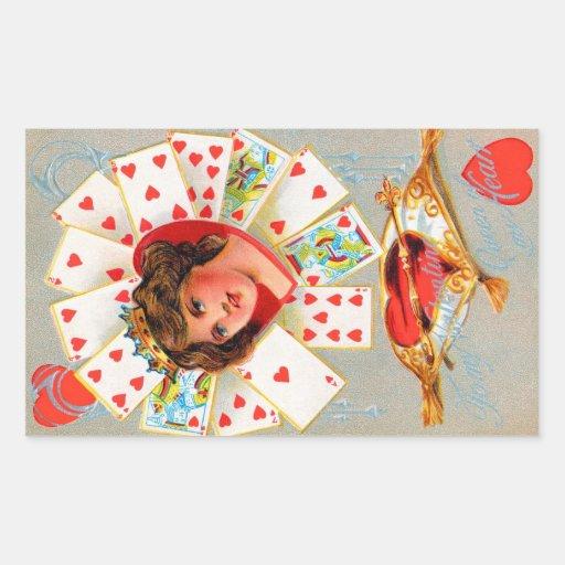 Tarjeta del día de San Valentín del vintage Rectangular Altavoz