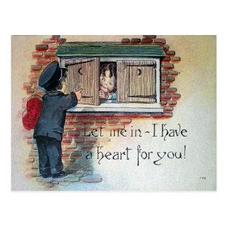 Tarjeta del día de San Valentín del vintage Tarjeta Postal