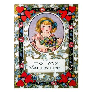 Tarjeta del día de San Valentín del vintage Tarjetas Postales