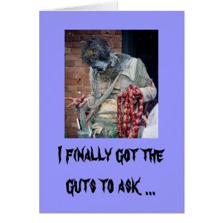 Tarjeta del día de San Valentín del zombi