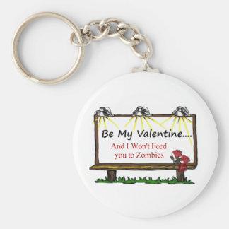 Tarjeta del día de San Valentín del zombi Llavero Personalizado