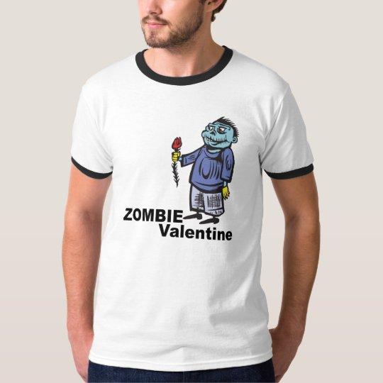Tarjeta del día de San Valentín del zombi Playera