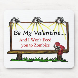 Tarjeta del día de San Valentín del zombi Tapetes De Ratón