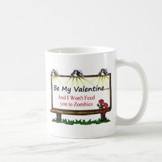 Tarjeta del día de San Valentín del zombi Taza De Café