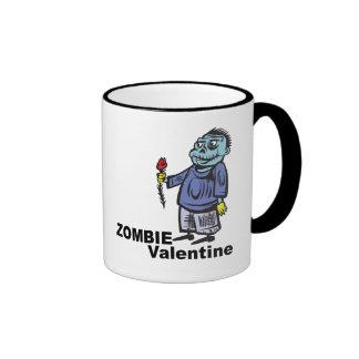 Tarjeta del día de San Valentín del zombi Taza De Dos Colores