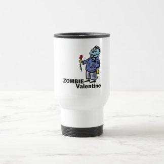 Tarjeta del día de San Valentín del zombi Taza De Viaje
