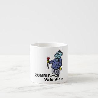 Tarjeta del día de San Valentín del zombi Taza Espresso