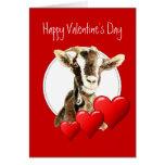 Tarjeta del día de San Valentín divertida de su ca