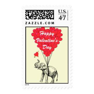 Tarjeta del día de San Valentín divertida del Estampilla