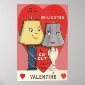 Tarjeta del día de San Valentín divertida extraña  Póster