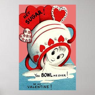 Tarjeta del día de San Valentín divertida linda ex Póster