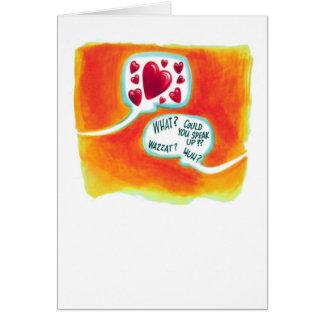 Tarjeta del día de San Valentín divertida que
