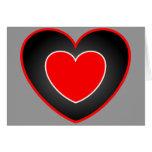Tarjeta del día de San Valentín doble del corazón